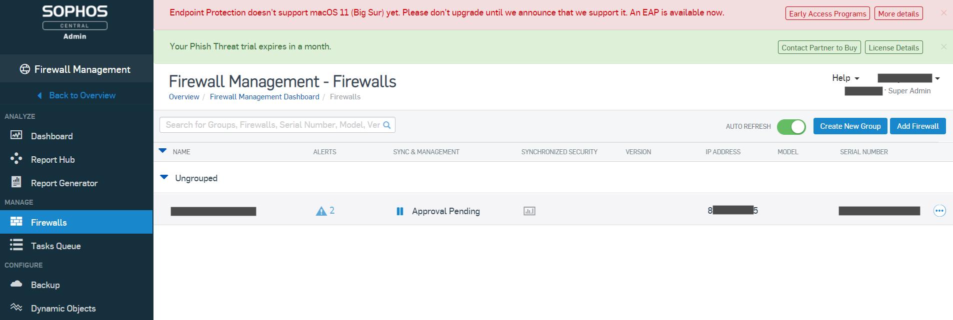Approve firewall