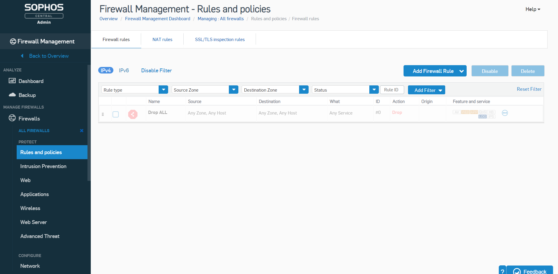Firewall management - Rules and policies