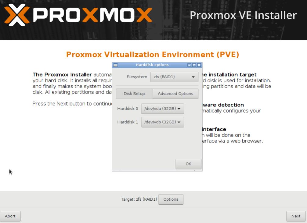 Installin Proxmox Virtual Environment on a RAID configuration